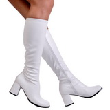Hvid Mat 8,5 cm GOGO-300 Høje Damestøvler til Mænd
