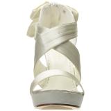 Hvid Satin 12 cm LUMINA-29 Høje Fest Sandaler med Hæl