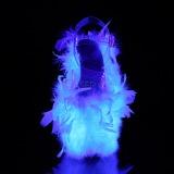 Hvid marabou fjer 20 cm FLAMINGO-808F poledance sko
