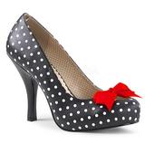 Hvide Punkter 11,5 cm PINUP-05 store størrelser pumps sko