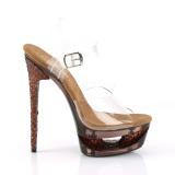 Kobber 16,5 cm ECLIPSE-608GT Sandaler med stiletter hæle