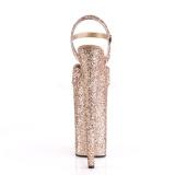 Kobber 25,5 cm BEYOND-010LG glitter plateau high heels sko