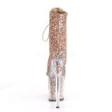 Kobber glimmer 20 cm FLAMINGO-1020G poledance ankelstøvler