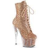 Kobber glitter 18 cm ADORE-1020G ankelstøvler damer med plateausål