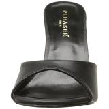 Kunstlæder 10 cm CLASSIQUE-01 dame mules med høje hæl