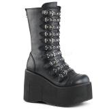 Kunstlæder 11,5 cm DEMONIA KERA-50 gothic støvler med plateau