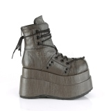 Kunstlæder 11,5 cm Demonia BEAR-120 gothic ankelstøvler med plateausål