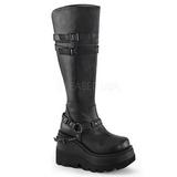 Kunstlæder 11,5 cm SHAKER-101 lolita støvler gothic plateau tykke såler
