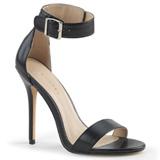 Kunstlæder 13 cm AMUSE-10 højhælede sko til mænd