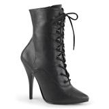 Kunstlæder 13 cm SEDUCE-1020 Sorte ankelstøvler med stilethæl