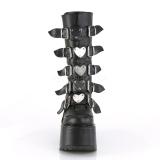 Kunstlæder 14 cm SWING-230 cyberpunk plateaustøvler