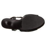 Kunstlæder 15 cm DELIGHT-609 pleaser høje hæle med plateau