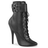 Kunstlæder 15 cm DOMINA-1023 stiletto ankelstøvler med høje hæle