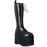 Kunstlæder 15 cm MEGA-602 Plateau Gothic Støvler til Mænd
