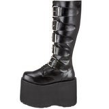 Kunstlæder 15 cm MEGA-618 Plateau Gothic Støvler til Mænd