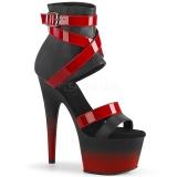 Kunstlæder 18 cm ADORE-700-15 pleaser sandaler med plateau