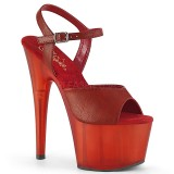 Kunstlæder 18 cm ADORE-709T pleaser sandaler med plateau