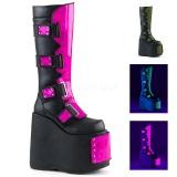 a1aee9bc9a03 goth sko från demonia støvler emo plateaustøvler til kvinder punk ...
