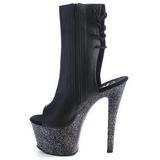 Kunstlæder 18 cm SKY-1018MG ankelstøvler damer med plateausål
