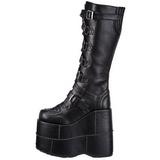Kunstlæder 18 cm STACK-308 Plateau Gothic Støvler til Mænd