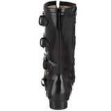 Kunstlæder 2,5 cm BROGUE-107 Winklepicker Goth Støvler til Mænd