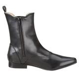 Kunstlæder 4 cm BROGUE-02 Winklepicker Goth Ankelstøvler til Mænd