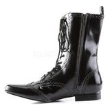 Kunstlæder 4 cm BROGUE-10 Winklepicker Goth Ankelstøvler til Mænd