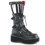 Kunstlæder 5 cm DEMONIA EMILY-355 gothic plateau støvler
