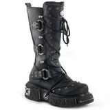 Kunstlæder 5 cm DMA-3000 Plateau Gothic Støvler til Mænd