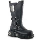Kunstlæder 5 cm DMA-3003 Plateau Gothic Støvler til Mænd