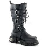 Kunstlæder 5 cm DMA-3005 Plateau Gothic Støvler til Mænd