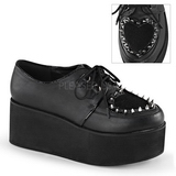 Kunstlæder 7 cm GRIP-02 lolita sko gothic plateausko med tykke såler