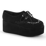Kunstlæder 7 cm GRIP-03 lolita sko gothic plateausko med tykke såler