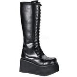 Kunstlæder 8,5 cm TRASHVILLE-502 Plateau Gothic Støvler til Mænd