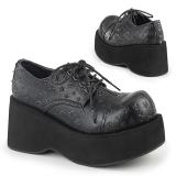 Kunstlæder 8 cm DANK-111 lolita sko gothic plateausko