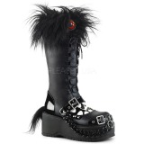 Kunstlæder 8 cm DEMONIA DOLLY-130 gothic plateau støvler