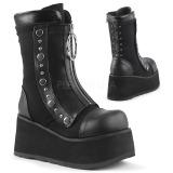 Kunstlæder 9 cm DEMONIA CLASH-206 gothic ankelstøvler