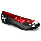 Kunstlæder PUNK-14 ballerina sko med flade hæle
