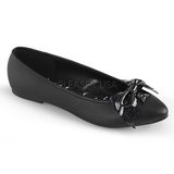 Kunstlæder VAIL-01 ballerina sko med flade hæle