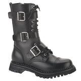 Læder RIOT-12 Punk Ankelstøvler til Mænd Gothic Ankelstøvler