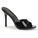 Laklæder 10 cm CLASSIQUE-01 dame mules med høje hæl