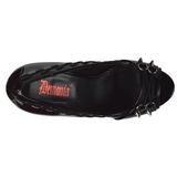 Laklæder 13,5 cm PIXIE-18 dame pumps sko med åben tå
