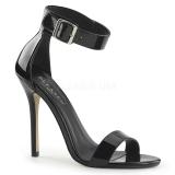 Laklæder 13 cm Pleaser AMUSE-10 højhælede sandaler til kvinder