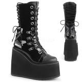 Laklæder 14 cm SWING-120 gothic støvler med plateau