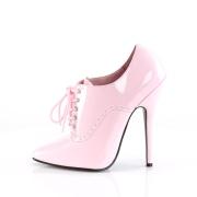 Laklæder 15 cm DOMINA-460 oxford pumps - højhælede snørepumps rosa