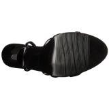 Laklæder 15 cm Devious DOMINA-108 højhælede sandaler til kvinder
