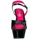 Laklæder 15 cm KISS-209TT Højhælede Sandaler Neon Plateau