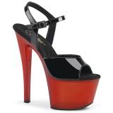 Laklæder 18 cm SKY-309T pleaser sandaler med plateau