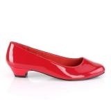 Laklæder 3 cm GWEN-01 pumps til mænd og drag queens i rød
