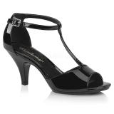 Laklæder 8 cm BELLE-371 højhælede sko til mænd